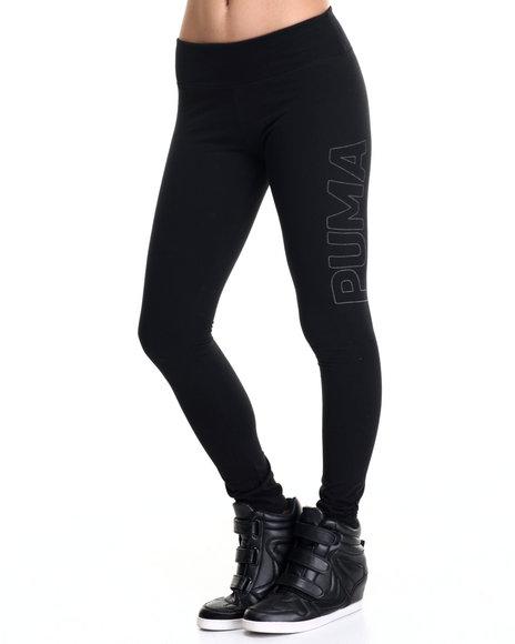 Puma - Women Black Reflective Leggings