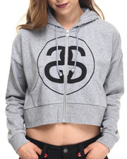 Hoodies - BIG LINK CROPPED FULL ZIP HOODY