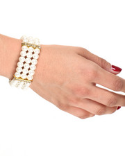 Black Friday Shop - Women - Crystal & Pearl Stretch Bracelet