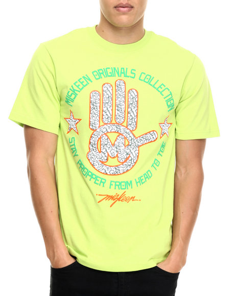 Miskeen - Men Lime Green Msnk Hand Logo Tee