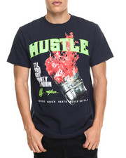 Shirts - Hustle Burnin $$$ Tee