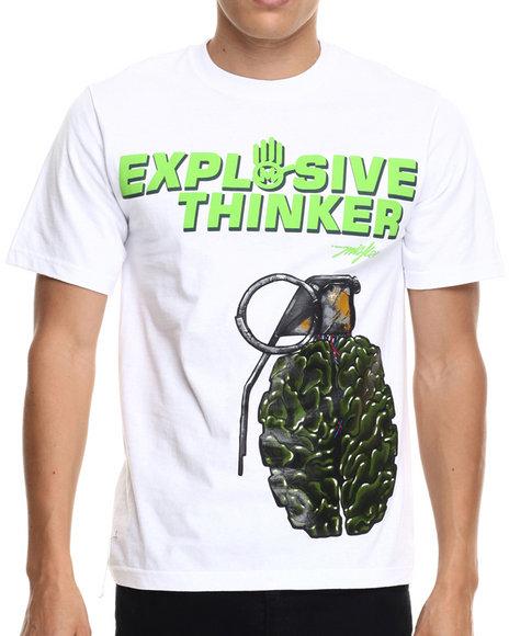 Miskeen - Men White Explosive Thinker Tee