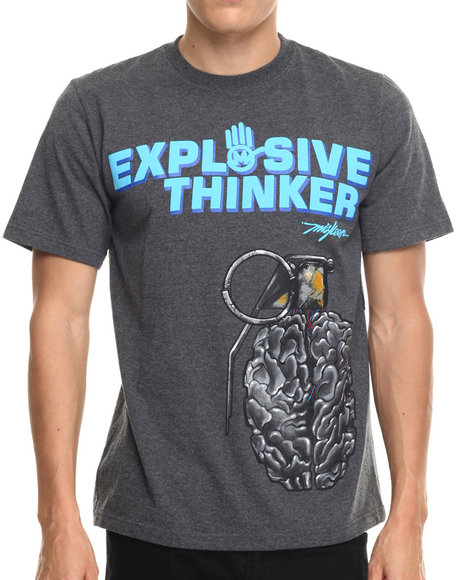 Miskeen - Men Charcoal Explosive Thinker Tee
