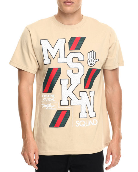 Miskeen - Men Khaki Mskn Italian Squad Lux Tee