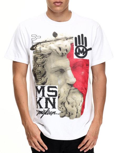 Miskeen - Men White Greek God Graphic Tee