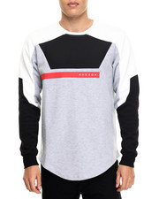Sweatshirts & Sweaters - Chest Ribbing L/S Tee