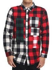 Button-downs - Hysteria Plaid Woven L/S Shirt