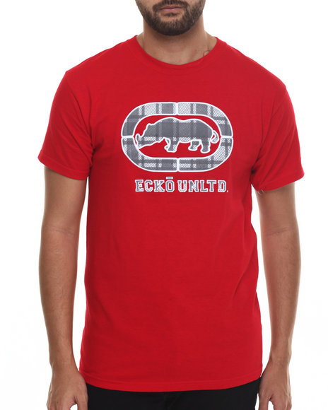 Ecko - Men Red Sueded Weld T-Shirt