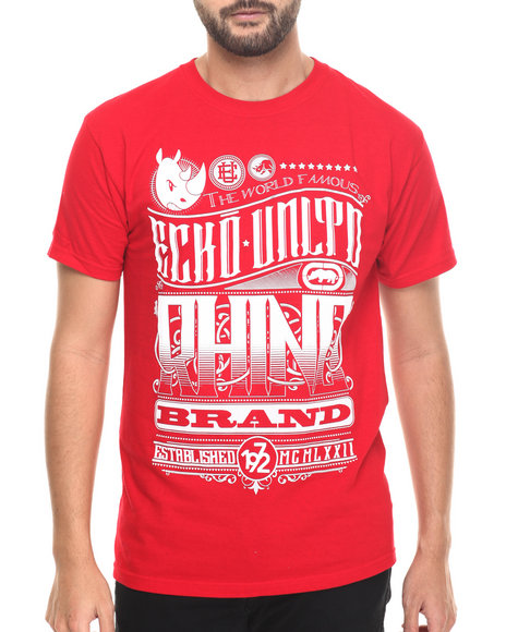 Ecko - Men Red Ecko Graphic T-Shirt