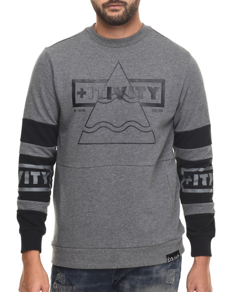 Pink Dolphin - Men Charcoal Positive Force Crewneck Sweatshirt