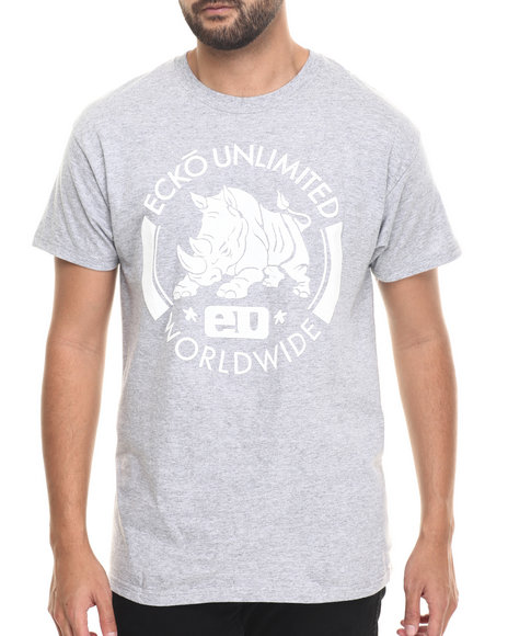 Ecko - Men Grey Charging Rhino T-Shirt
