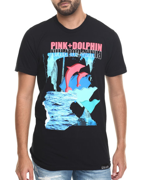 Pink Dolphin - Men Black Cave Of Wonder S/S Tee