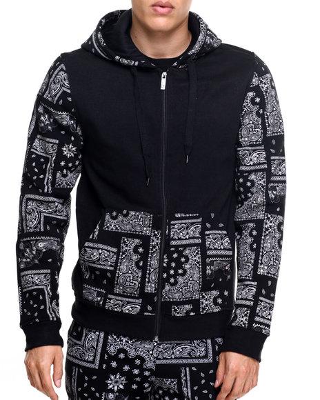 Akademiks - Men Black Champion Full Zip Fleece Hoodie
