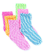 Black Friday Shop - Girls - Space Dye 6 Pk Anklet Socks (4-5 years)