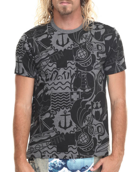 Pink Dolphin - Men Grey Timeless S/S Tee