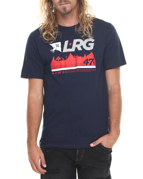 Lrg Men 47Th Expedition T-Shirt Navy Large