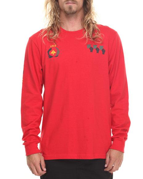 Lrg Men Uprisers L/S T-Shirt Red Large