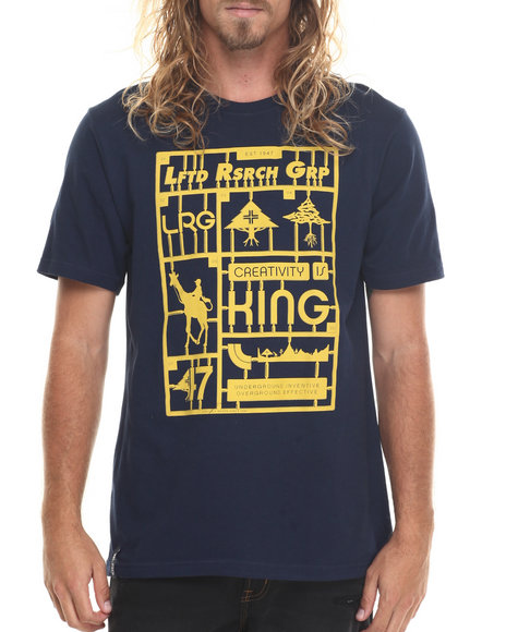 Lrg Men Snap Together T-Shirt Navy Medium