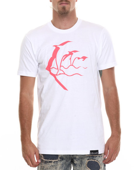 Pink Dolphin - Men White Waves Eclipse S/S Tee - $21.99