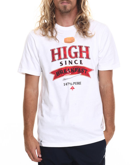 Lrg Men High Since Breakfast T-Shirt White XX-Large