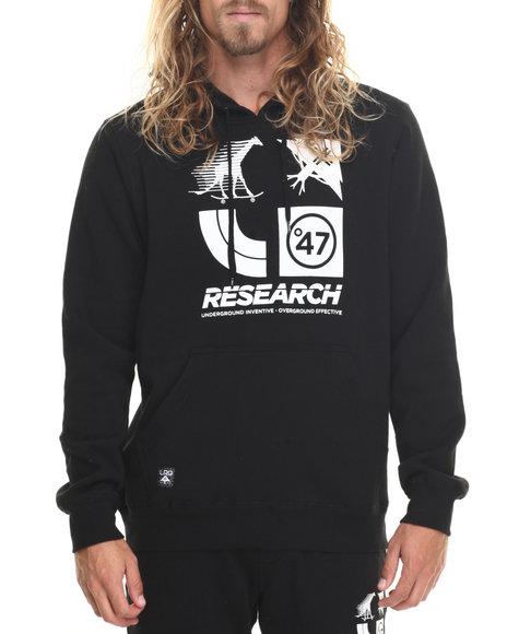 Lrg Men Rc Logo Cluster 47 Hoodie Black Medium
