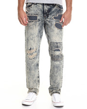 Men - PATCHWORK SANDWASH DENIM JEANS