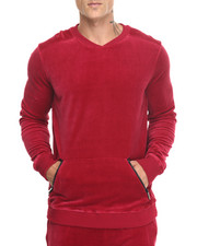 Sweatshirts & Sweaters - Red Velour Sweatshirt