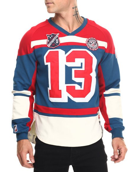 Post Game - Men Red P G Classic Hockey Jersey