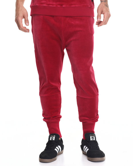 Entree - Men Red Red Velour Jogger