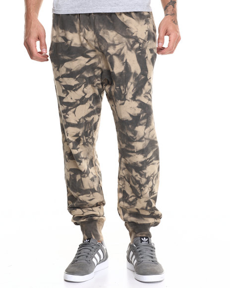 Buyers Picks - Men Camo,Khaki Tie Dye Spray Drop Crotch Jogger - $37.99
