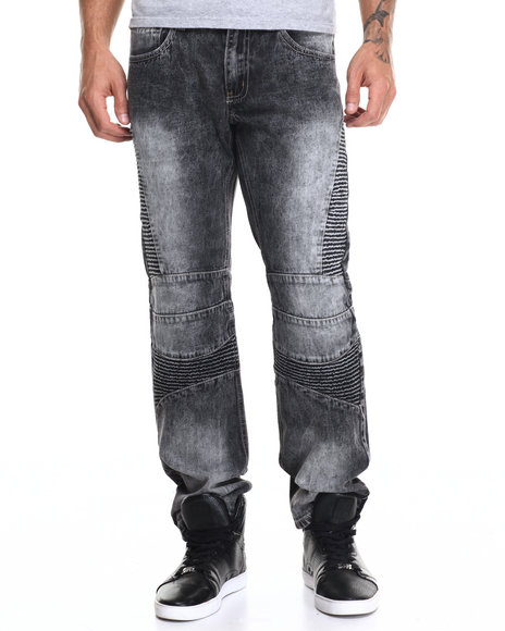 Black Designer Jeans Men