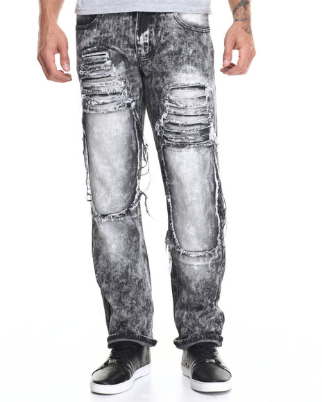Buyers Picks - Men Black Rip And Heavy Wash Jean