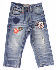 Bottoms - DISTRESSED JEANS W/ PATCHES (2T-4T)