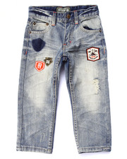 Boys - DISTRESSED JEANS W/ PATCHES (4-7)