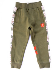 Boys - FLEECE JOGGERS W/ NYLON CAMO TRIM (4-7)