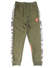 Boys - FLEECE JOGGERS W/ NYLON CAMO TRIM (8-20)