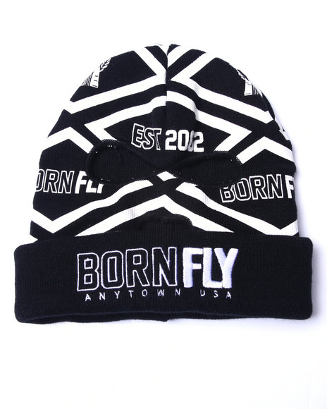 Born Fly Men Brouthers Ski Mask Beanie Black 1SZ