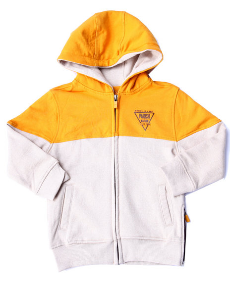 Parish - Boys Khaki Marled Fleece Full Zip Hoody (2T-4T)