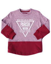 Boys - MARLED FLEECE CREW SWEATSHIRT (2T-4T)