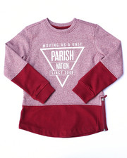 Boys - MARLED FLEECE CREW SWEATSHIRT (4-7)