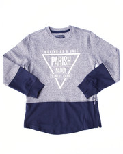 Boys - MARLED FLEECE CREW SWEATSHIRT (8-20)