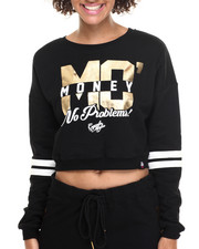 Sweatshirts - No Problems Crop Sweatshirt