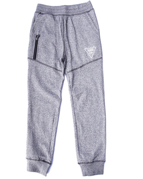 Parish - Boys Black Marled Fleece Pants (8-20)