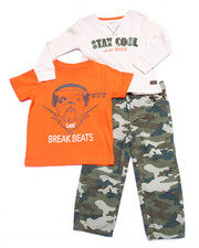 Boys - 3 PC SET - THERMAL, TEE, & CAMO PANTS (2T-4T)