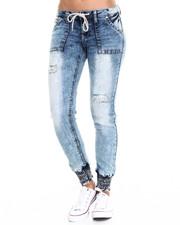 Bottoms - Slim Fit Knit Denim Jogger