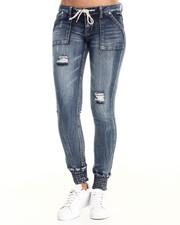 Women - Slim Fit Knit Denim Jogger