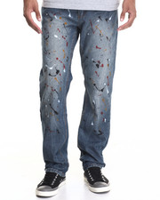 Men - Splattered Fashion Jeans
