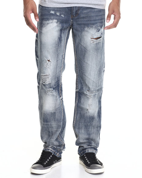 Enyce - Men Medium Wash Powder Fashion Jeans