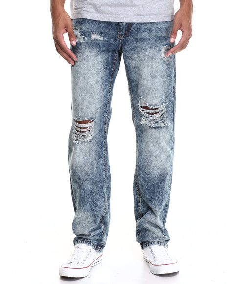 Enyce - Men Light Wash Snow Fashion Jeans