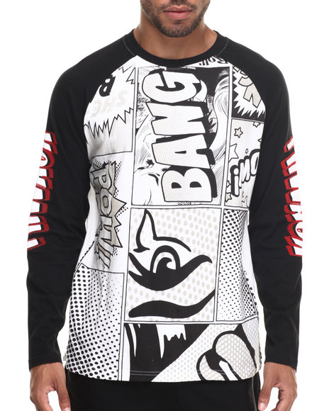 Graphic Raglan Shirts Mens